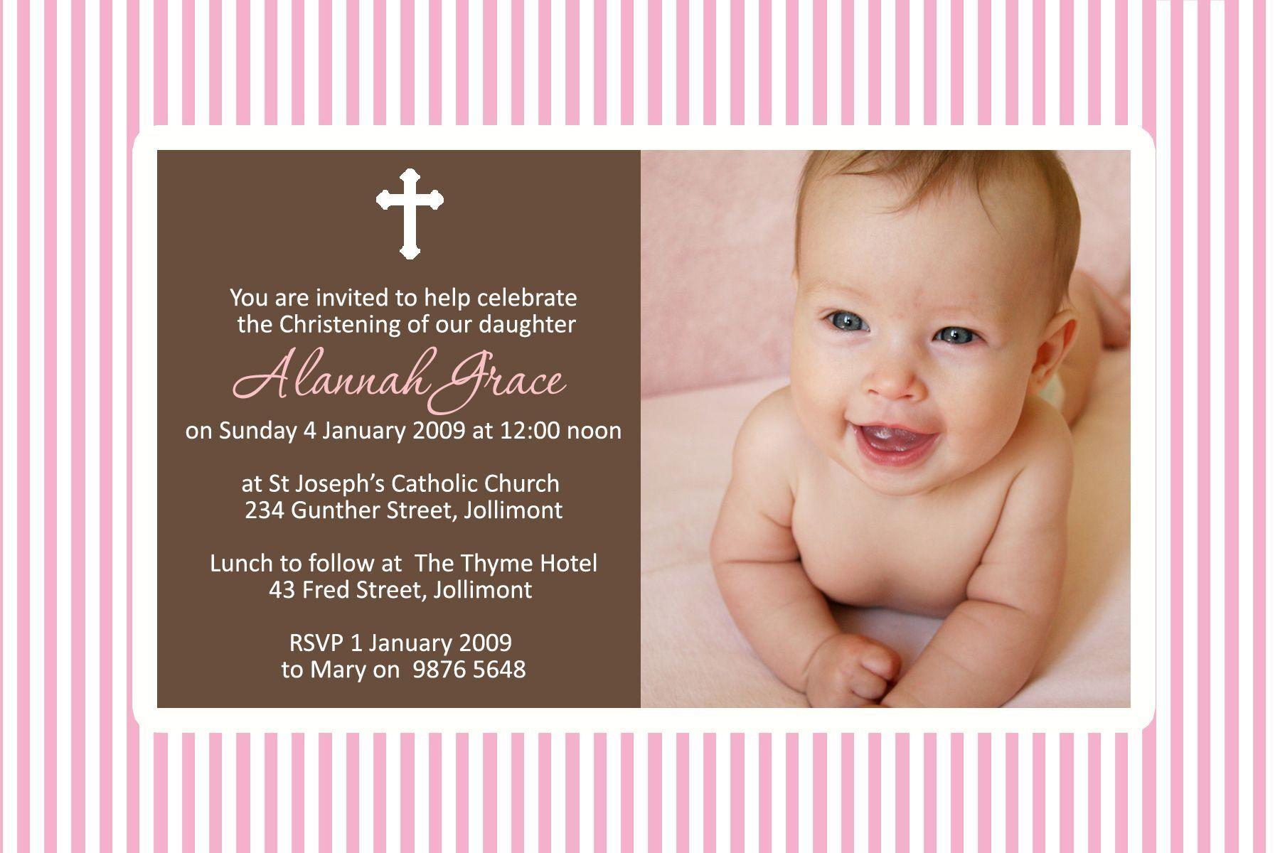 baptism invitations maker for girls | baptism invitations ...
