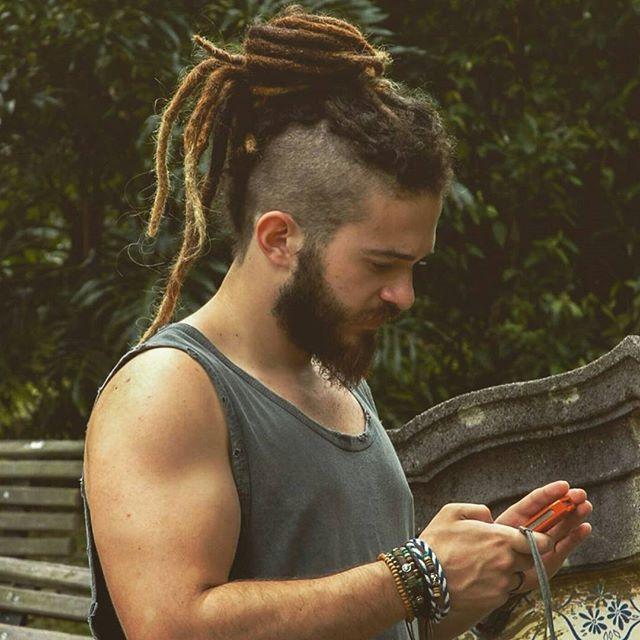 Mightylocs On Instagram Bruno Ra Has Mightylocs Dreadlock Hairstyles For Men Hair Styles Viking Hair