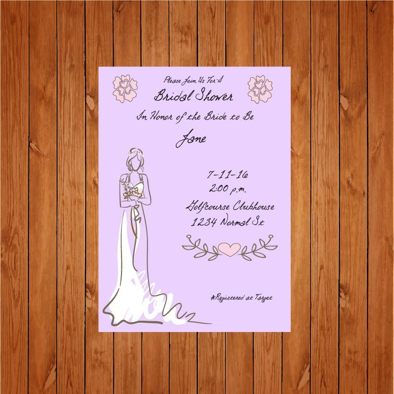 The product Lavender Bridal Shower Invite is sold by Personally Graphic in our Tictail store.  Tictail lets you create a beautiful online store for free - tictail.com