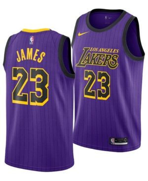 Nike LeBron James Los Angeles Lakers City Edition Swingman Jersey 2018 fa67ee987