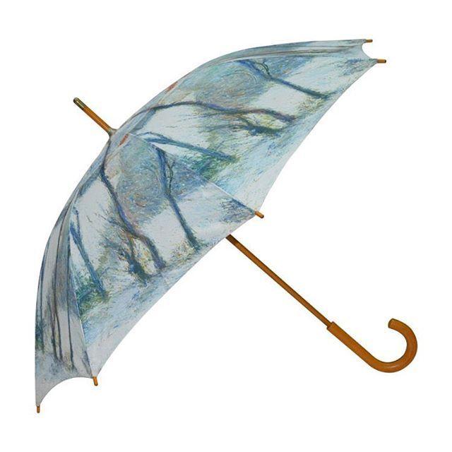 Full printing wood shaft umbrella