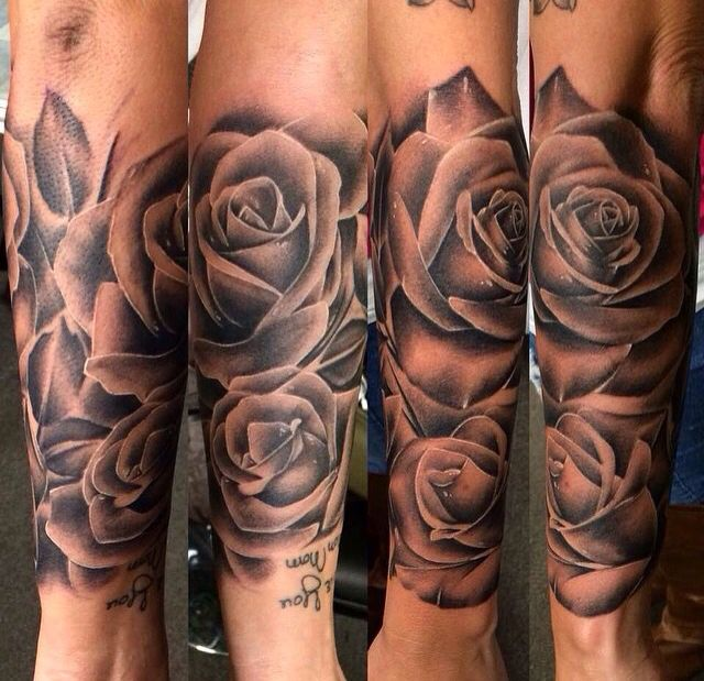 Rosas Negras Tatuajes Tatuajes Brazo Tatuajes De Rosas Y