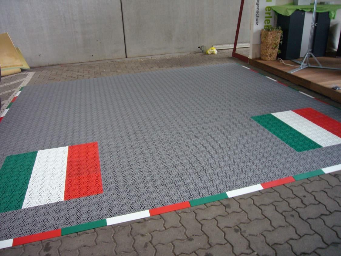 Garagenbodenbelag - Bergo ROYAL mit italienischen Farben