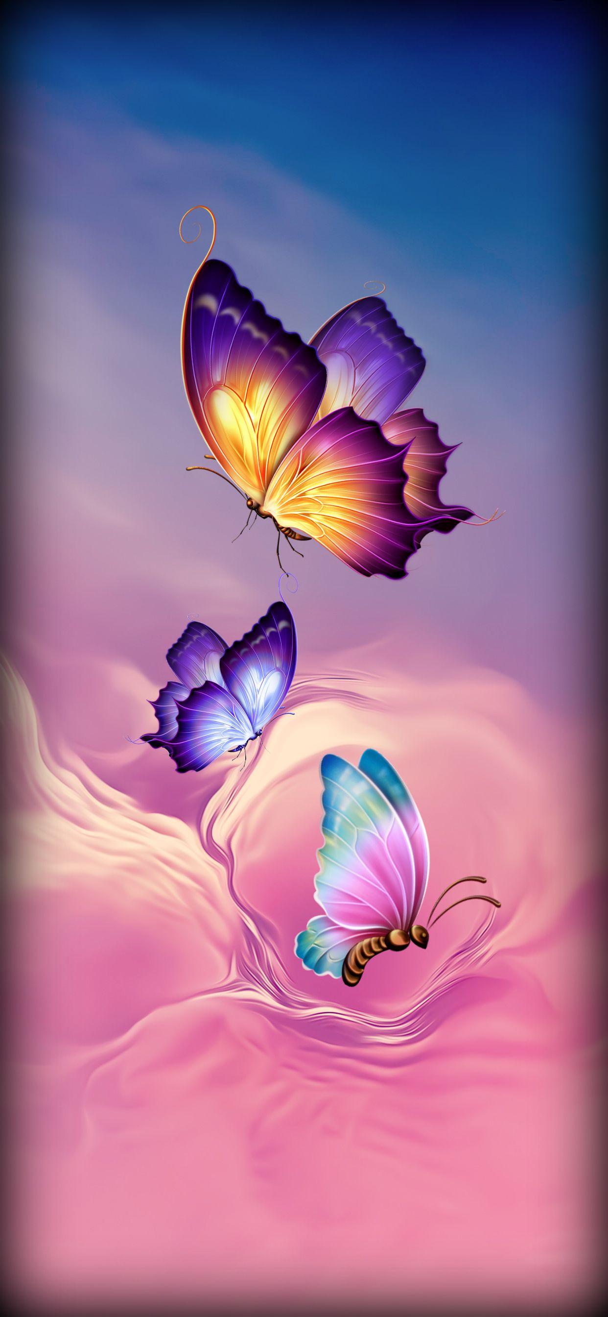 Neon Butterflies Butterfly Art Painting Butterfly Painting Butterfly Wallpaper Backgrounds