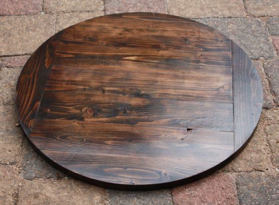 Rustic Reclaimed Handmade ROUND Wood Table Top MULTI SIZE Bar - Rustic table tops restaurant