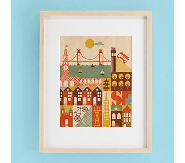 I Left My Art In San Francisco Wall For Land Of Nod By Lorena Siminovich