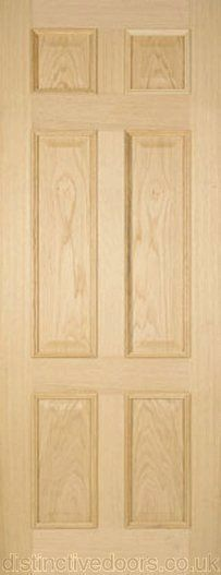 internal light oak american white oak engineered colonial colonist door 6 panels raised mouldings both sides traditional interior design  sc 1 st  Pinterest & Colonial 6 Panel Interior Oak Door | Decor Trends \ Georgian ... pezcame.com