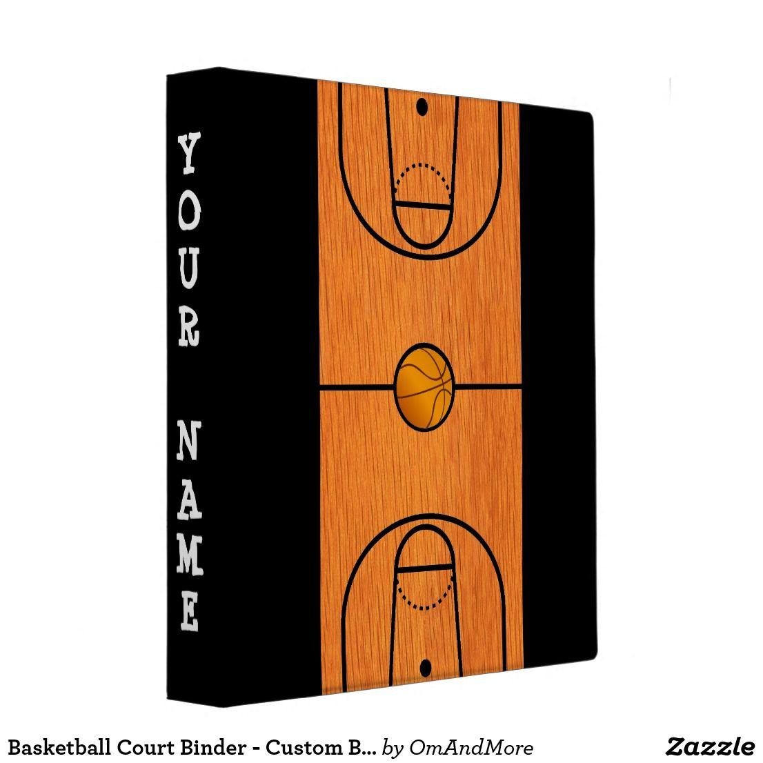 Basketball Court Binder - Custom Basketball Gifts