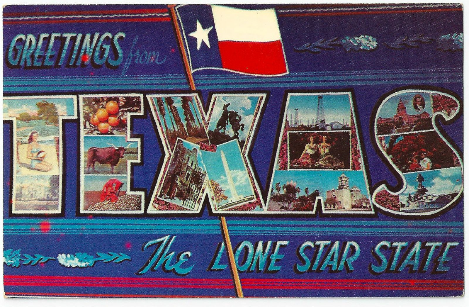 Large letter postcard greetings from texas the lone star state large letter postcard greetings from texas the lone star state texas flag ebay kristyandbryce Choice Image