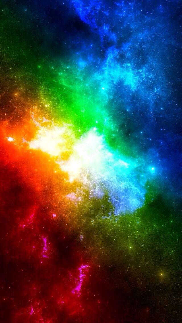Rainbow Wallpaper With Images Rainbow Wallpaper Space Iphone