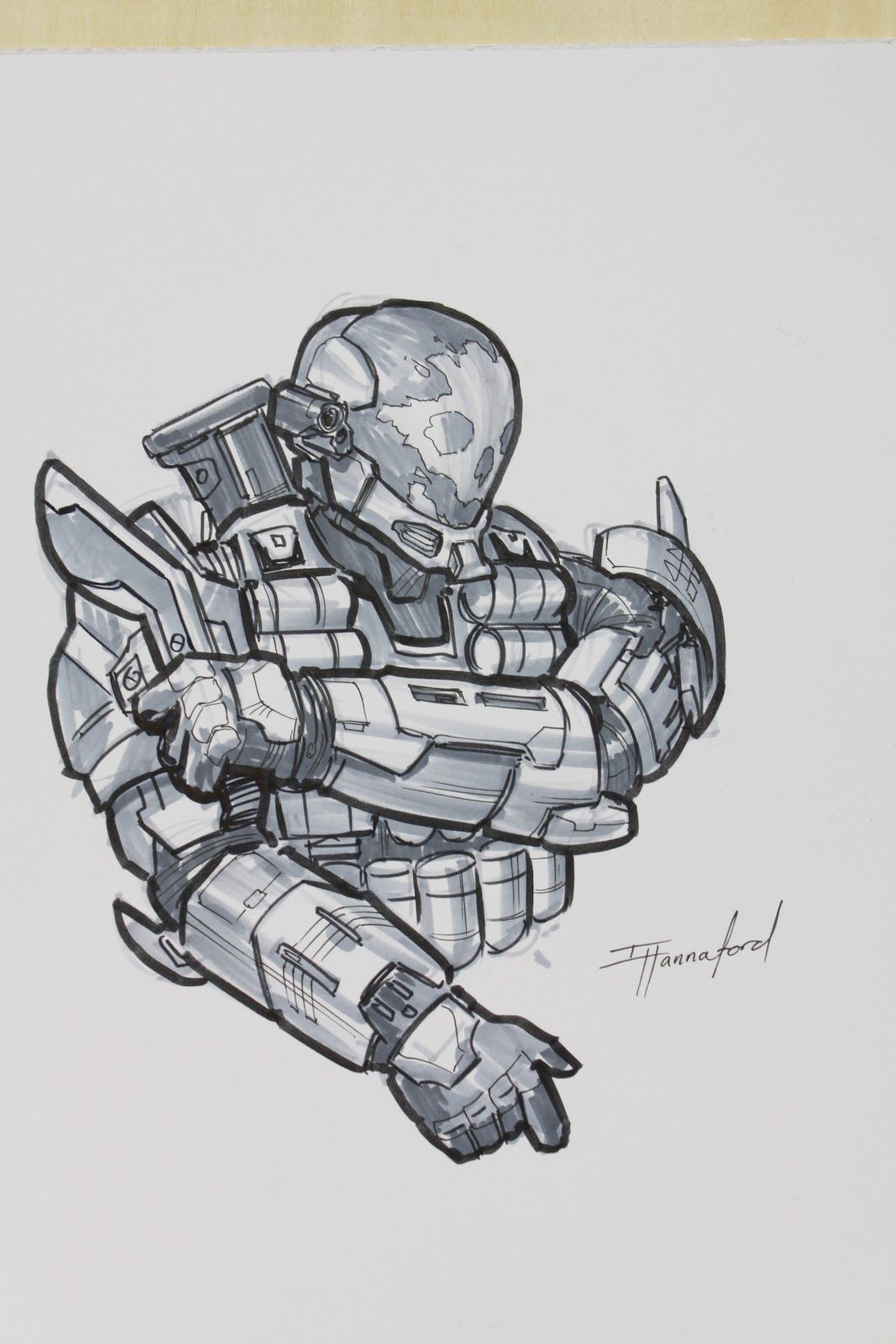 Fan request, Emile (Halo Character) Isaac Hannaford | Art ...