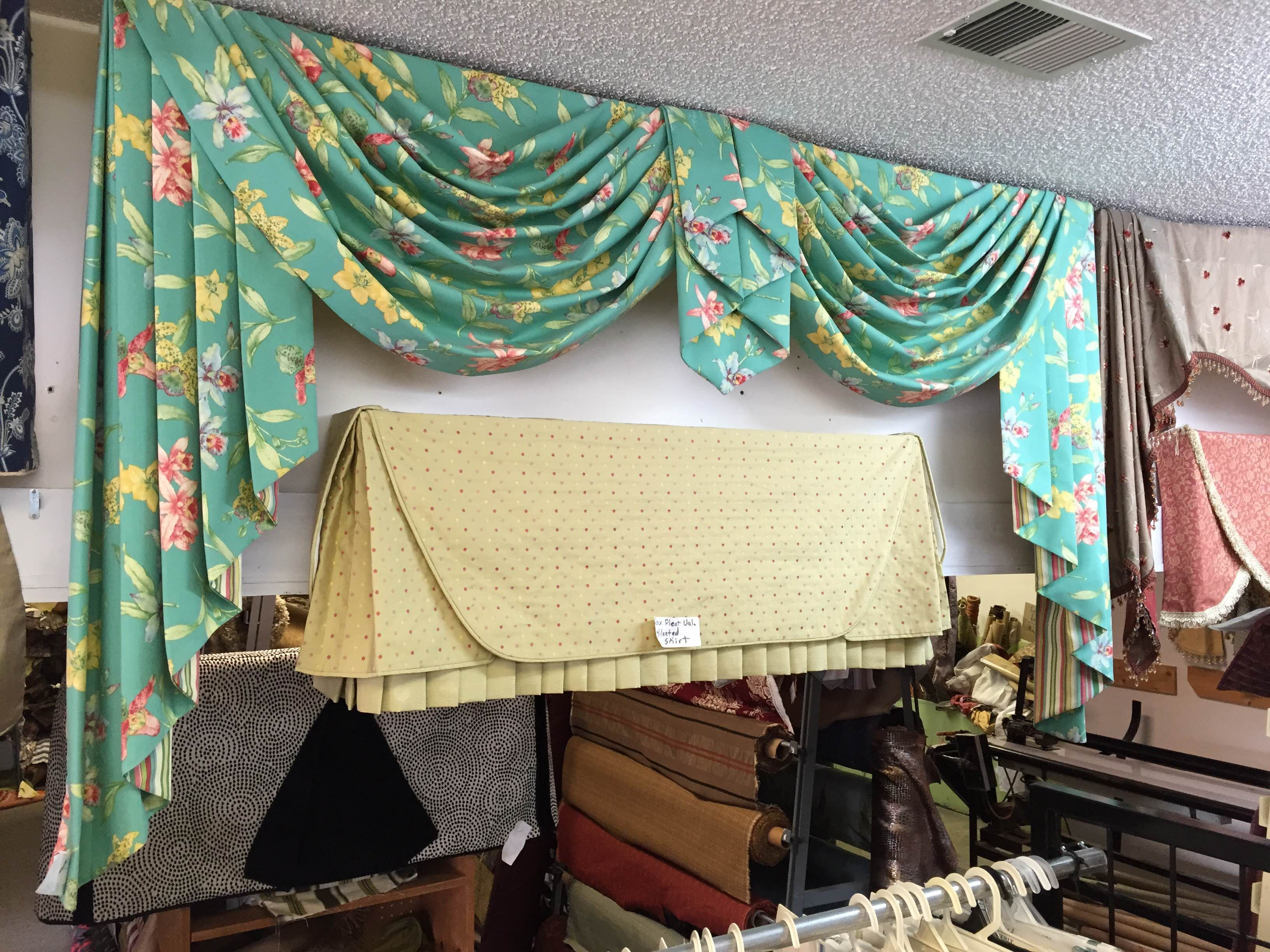 P J Outlet Window Cornices Curtains Custom Valances