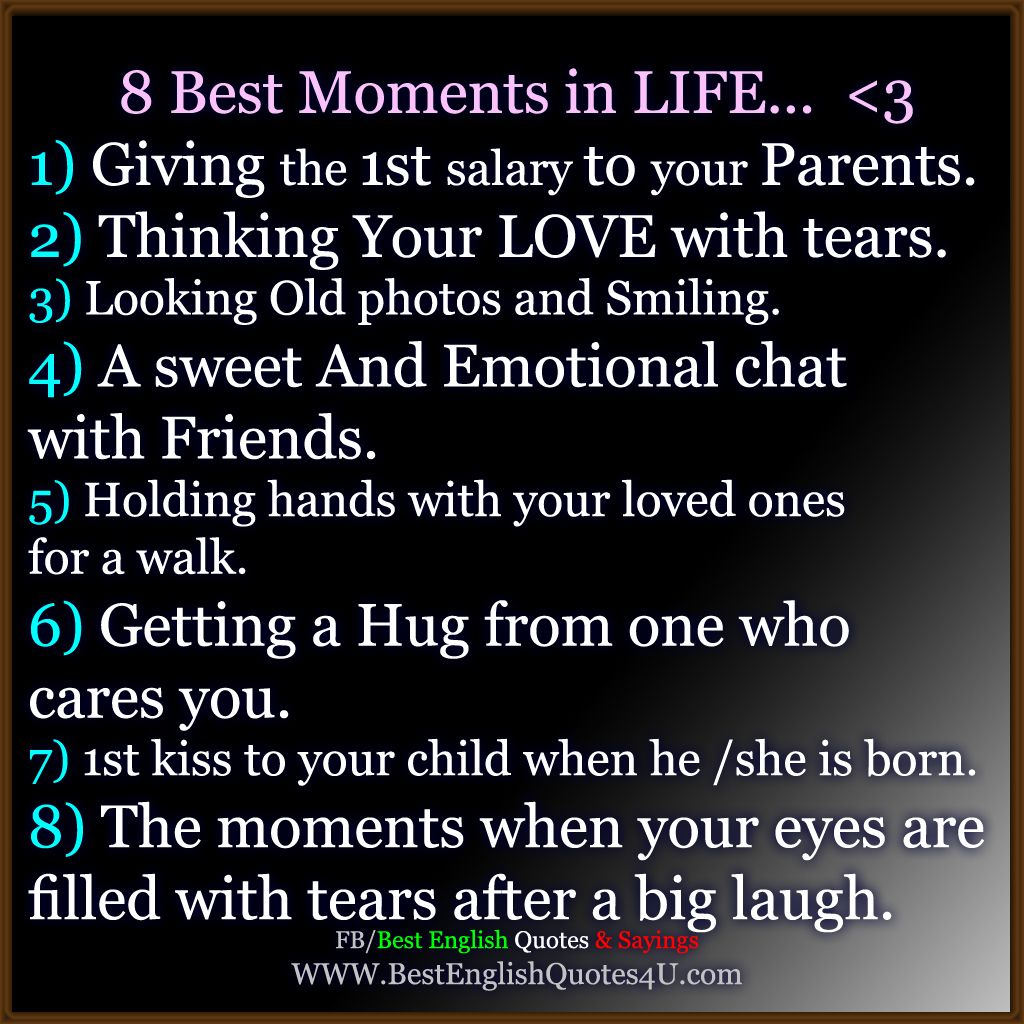 Best English Quotes & Sayings: 8 Best Moments in LIFE ...