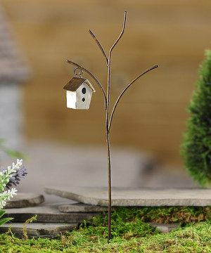 Another great find on #zulily! Mini Birdhouse Garden Stake by Giftcraft #zulilyfinds