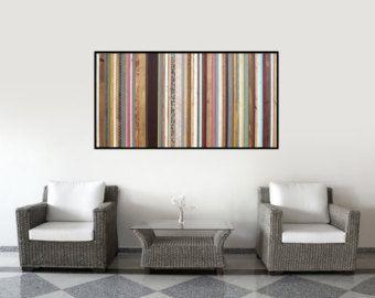 Reclaimed Wood Art Two 7x30 Retro Pieces Wood von ScrapWoodDesign
