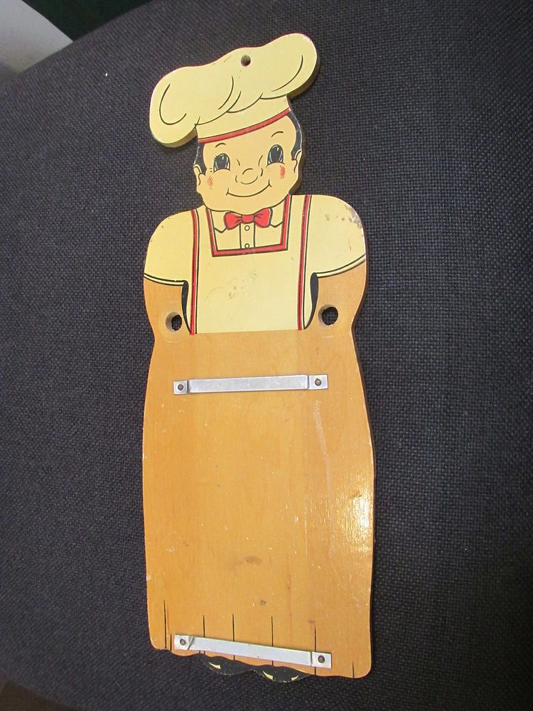 Vintage 1950s Chief Wooden Note Pad Holder in Collectibles