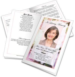 You An Quickly And Easily Make A Funeral Program Or Booklet For A