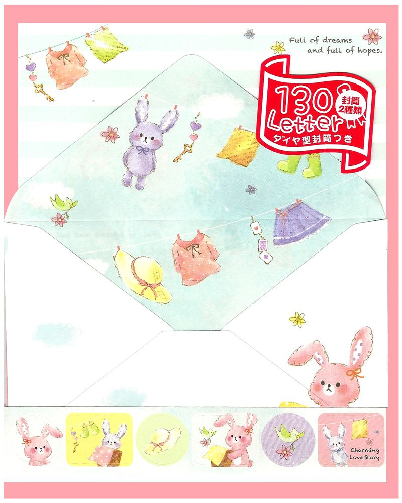 Crux Charming Love Story Rabbits Letter Set