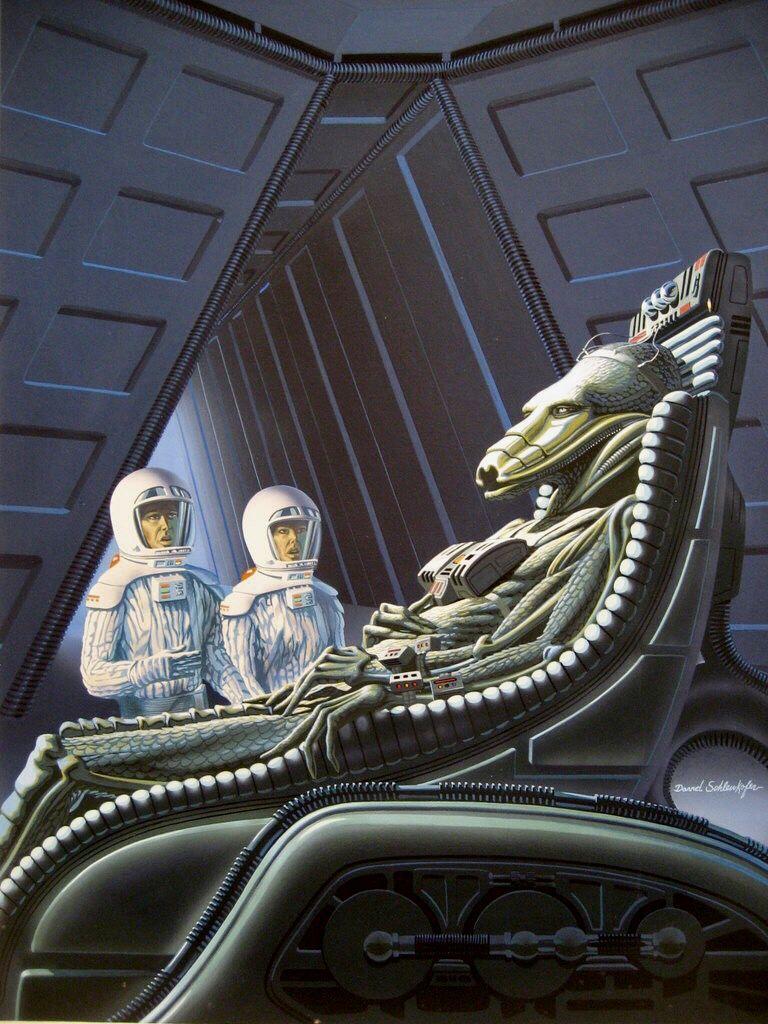 Sci Fi Artist David Schleinkofer Late 1970searly 1980s Space