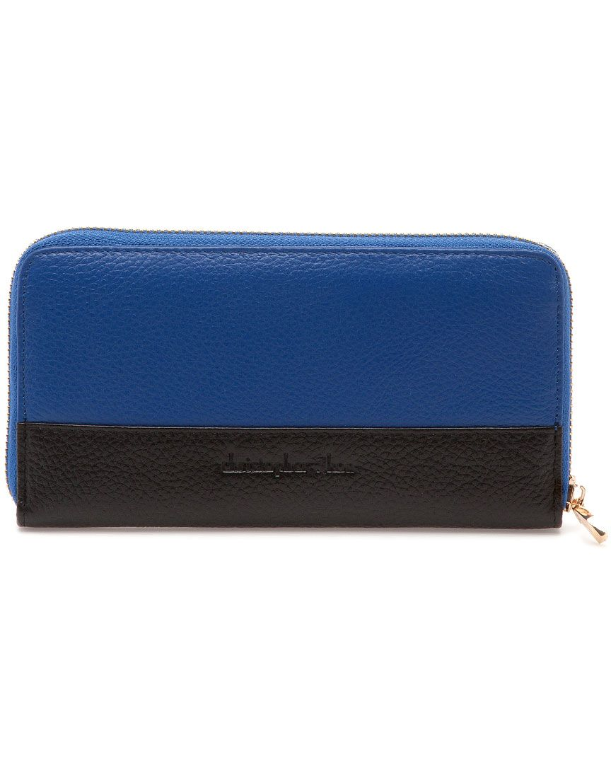 christopher kon two-tone zip wallet