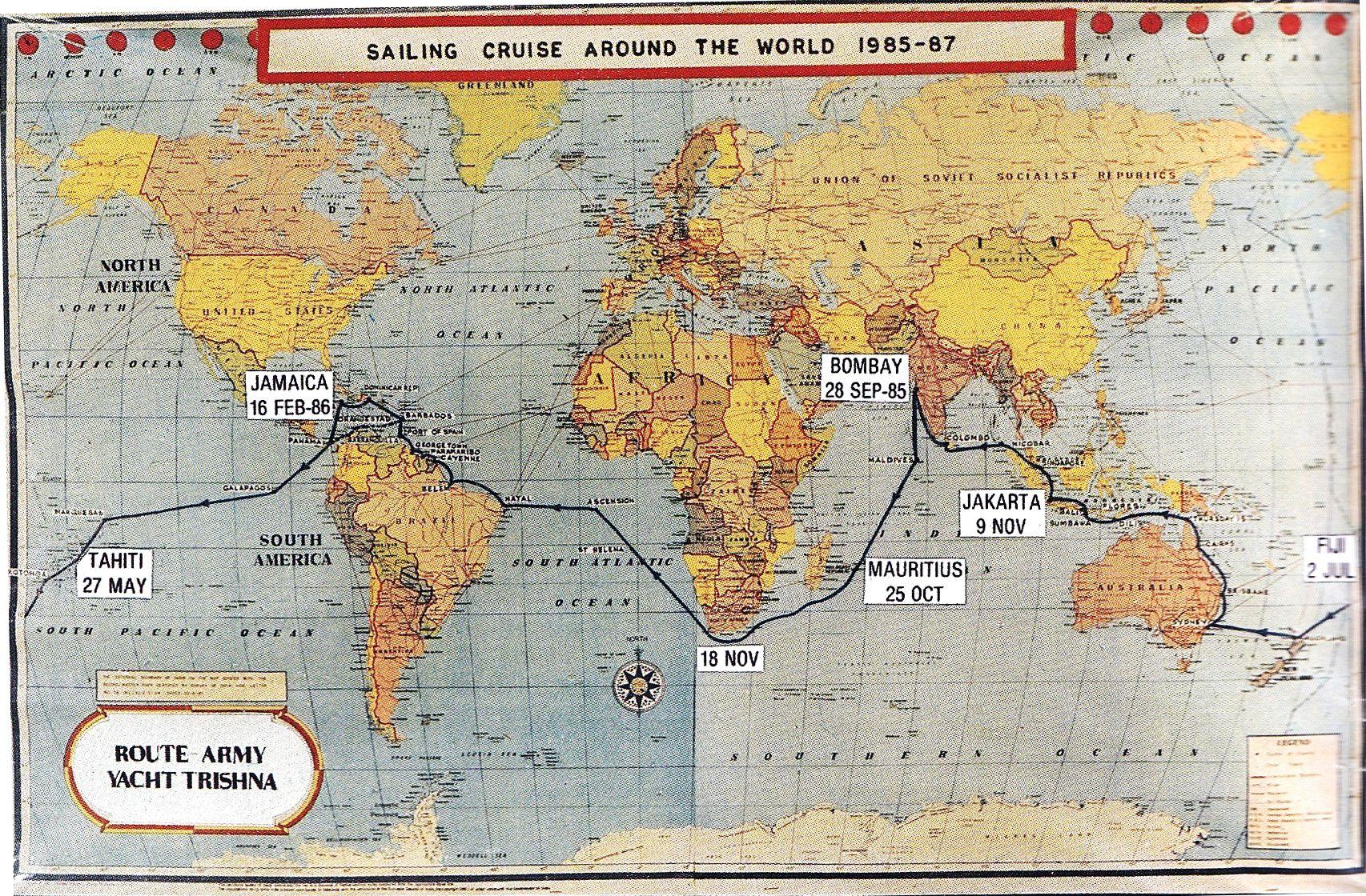nautical sailing map of the world Sailing World Route World Sailing Routes Map Sail World