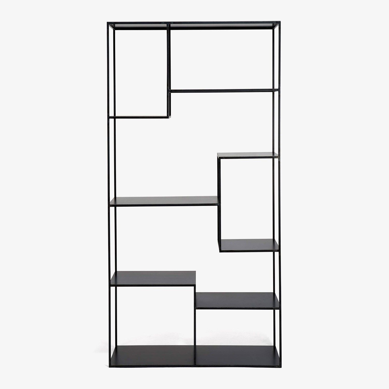 Flatiron-Wrought Steel Asymmetrical Shelving Unit
