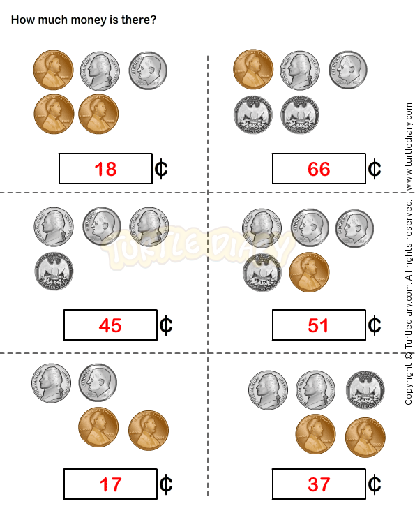 Counting Coins Worksheet 15 - math Worksheets - grade-1 Worksheets ...