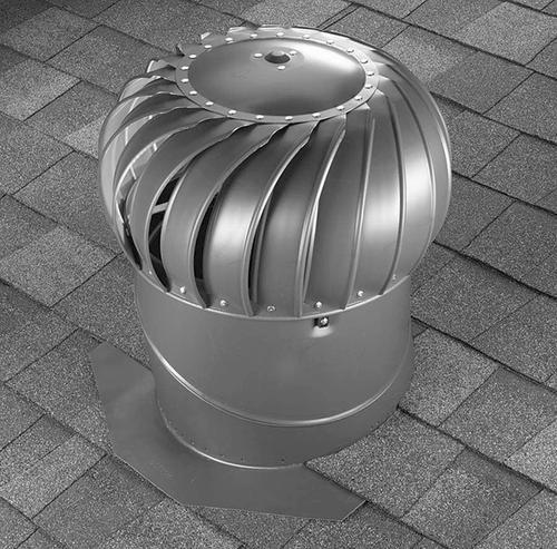 Air Vent 12 Galvanized Roof Turbine Vent Internally Braced With Base 27 From Menards In 2020 Roof Soffits Galvanized Menards