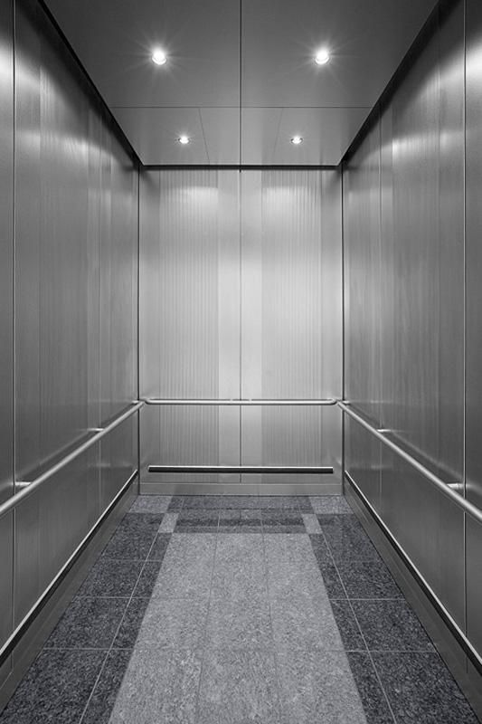 Stainless Steel Elevators : Cabforms a elevator interior in stainless steel with