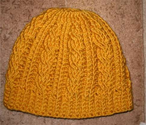 Free Crochet Cable Hat Pattern Knitting Bordado Pinterest
