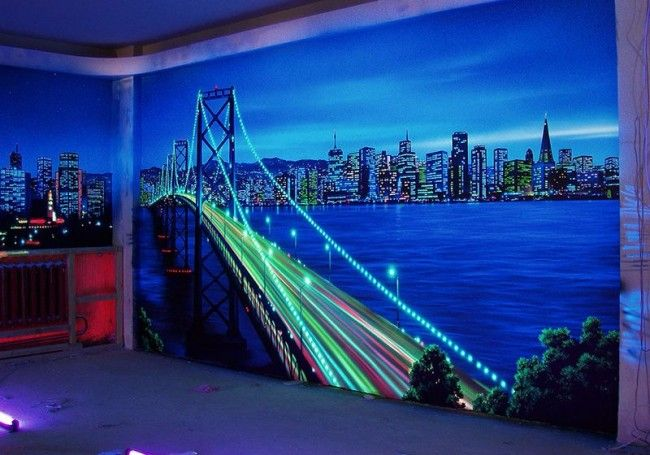 3d Wallpaper With Led Backlit For Realistic Living Room Wall