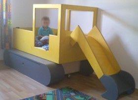 Kinderbett baggerbett  Anbauset Bagger - Kinderbett wird zum Baggerbett | hand mede ...