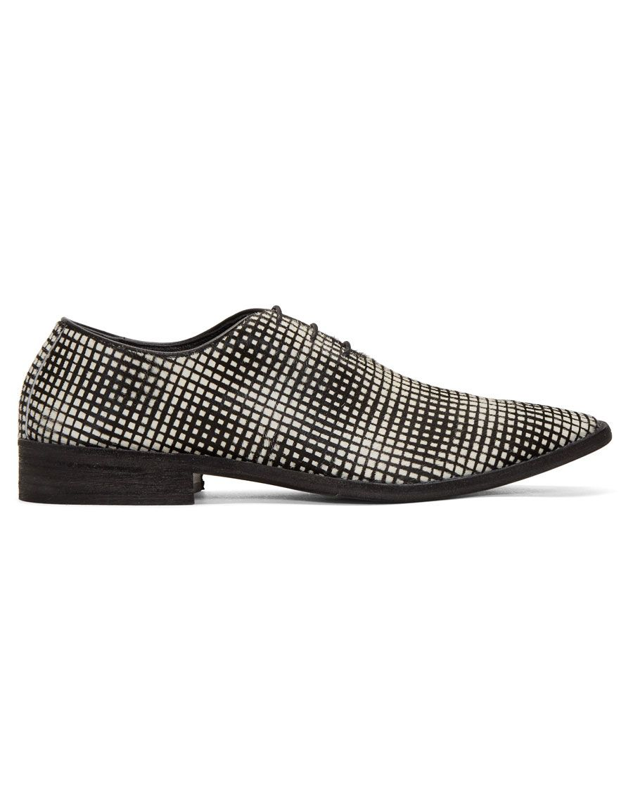 Haider Ackermann Black & White Okenite Pony Loafers 8AjA4a