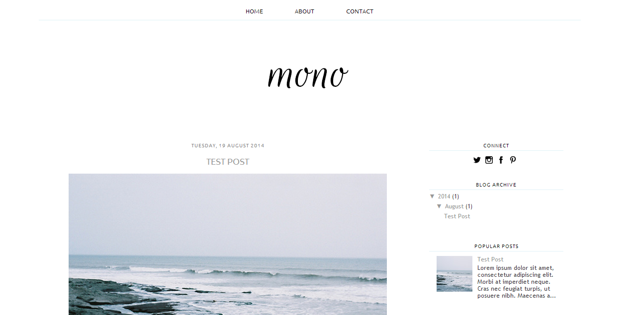 A Free Blogger Template Oh Zoe Blogger Pinterest Template