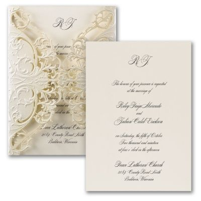 Exquisite Lace Wedding Invitation 40 Off Mediapluscarlsoncraft