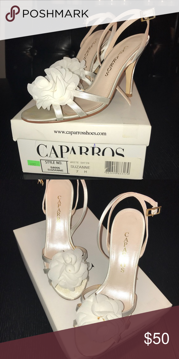 Caparros White Satin High Heels Suzanne Size 7 Caparros White Satin High Heels Suzanne Size 7 Worn During My Wedding For A Heels Caparros Shoes High Heels