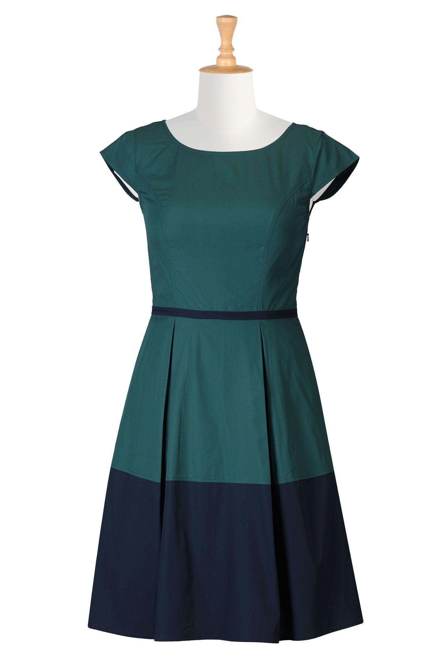 Retro two tone colorblock dress | Colorblock dress, Classy clothes ...