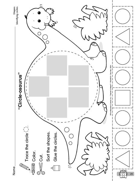 circle osaurus the mailbox the mailbox printables preschool worksheets dinosaurs. Black Bedroom Furniture Sets. Home Design Ideas