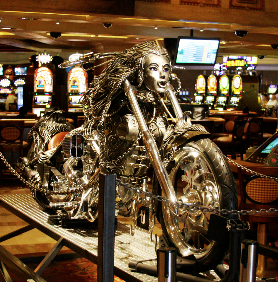 Motorcycle Display In Las Vegas (1)
