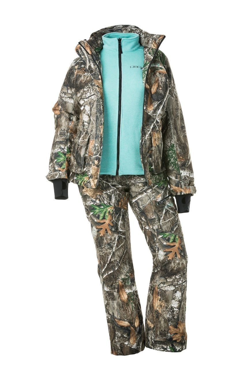 3aedabda8f99f ... Removable Fleece Liner - Can Be Worn 3 Ways - Realtree Edge. Kylie 2.0 3 -in-1 Hunting Jacket - Realtree Edge - DSG Outerwear