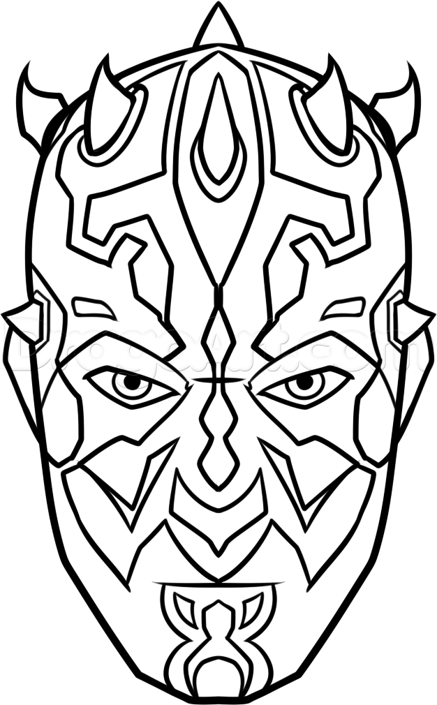 How To Draw Darth Maul Easy Step 8 Star Wars Star Wars