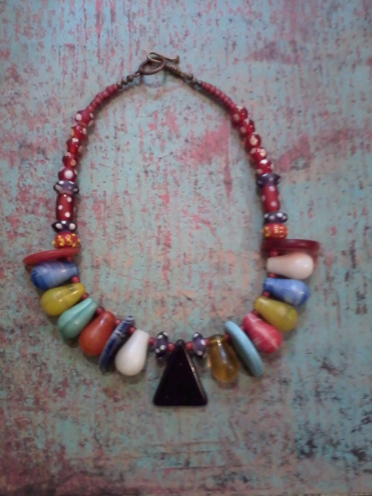 Mali wedding beads and contemporary lamp work beads.