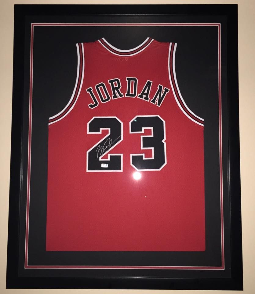 new concept 5a7b7 9d3ba Framed Jersey of #MichaelJordan #ChicagoBulls #23 GOAT ...