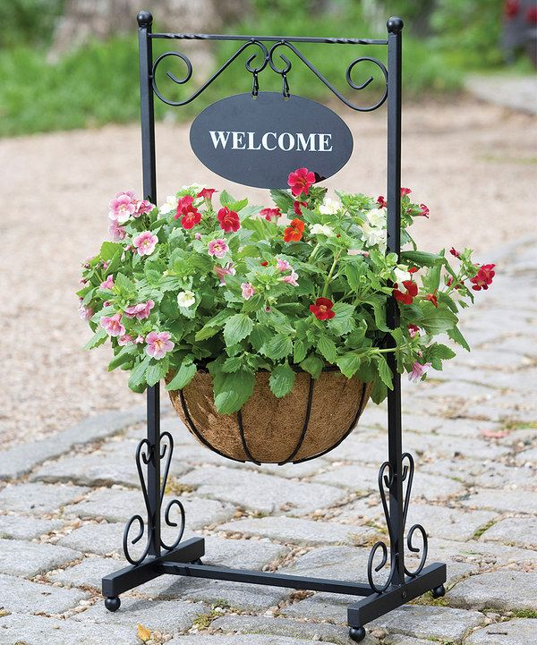 Look at this Blacksmith 'Welcome' Planter on #zulily today!