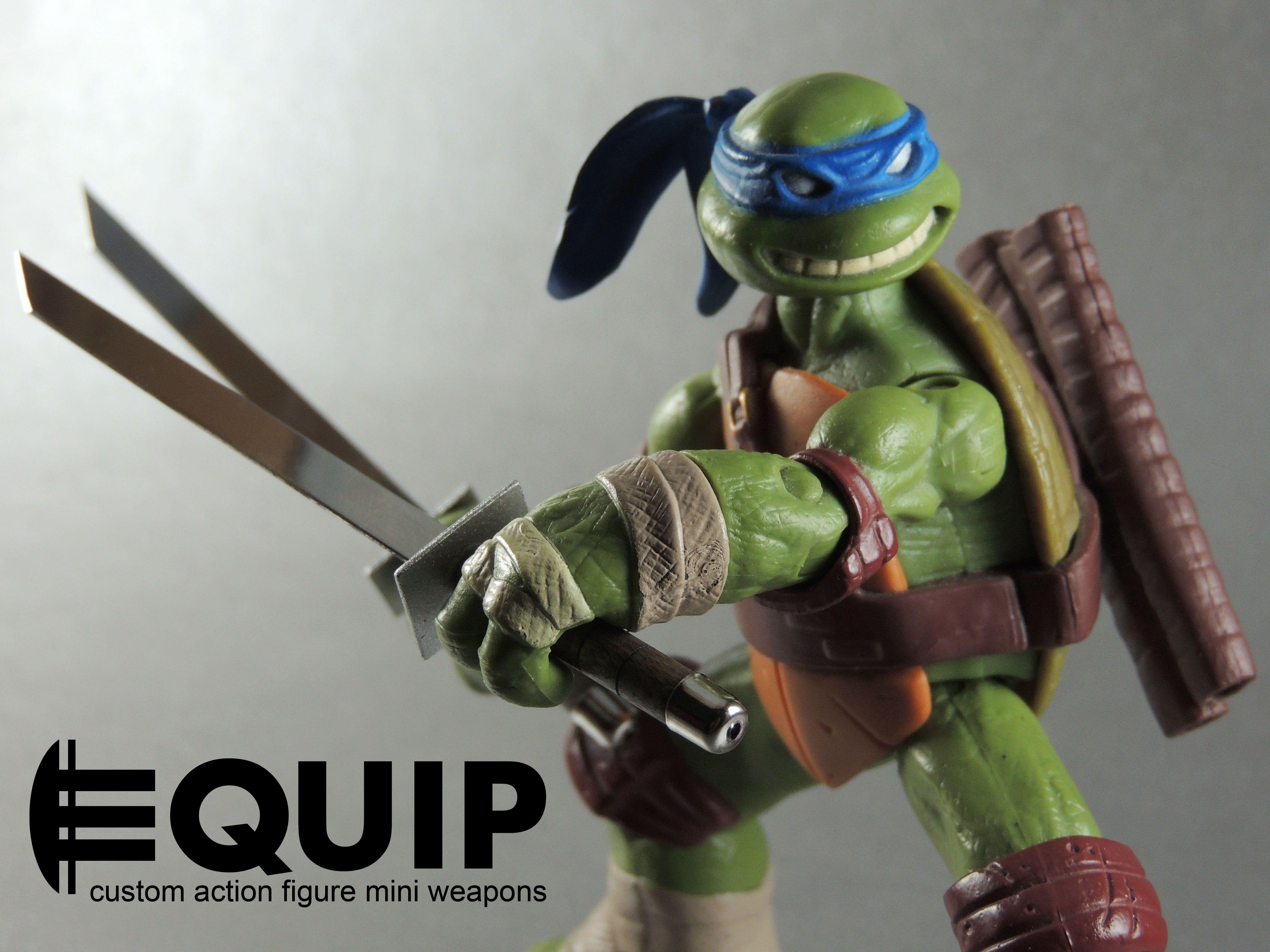Tmnt 2012 Leonardo Nickelodeon Action Figure Katanas Making The