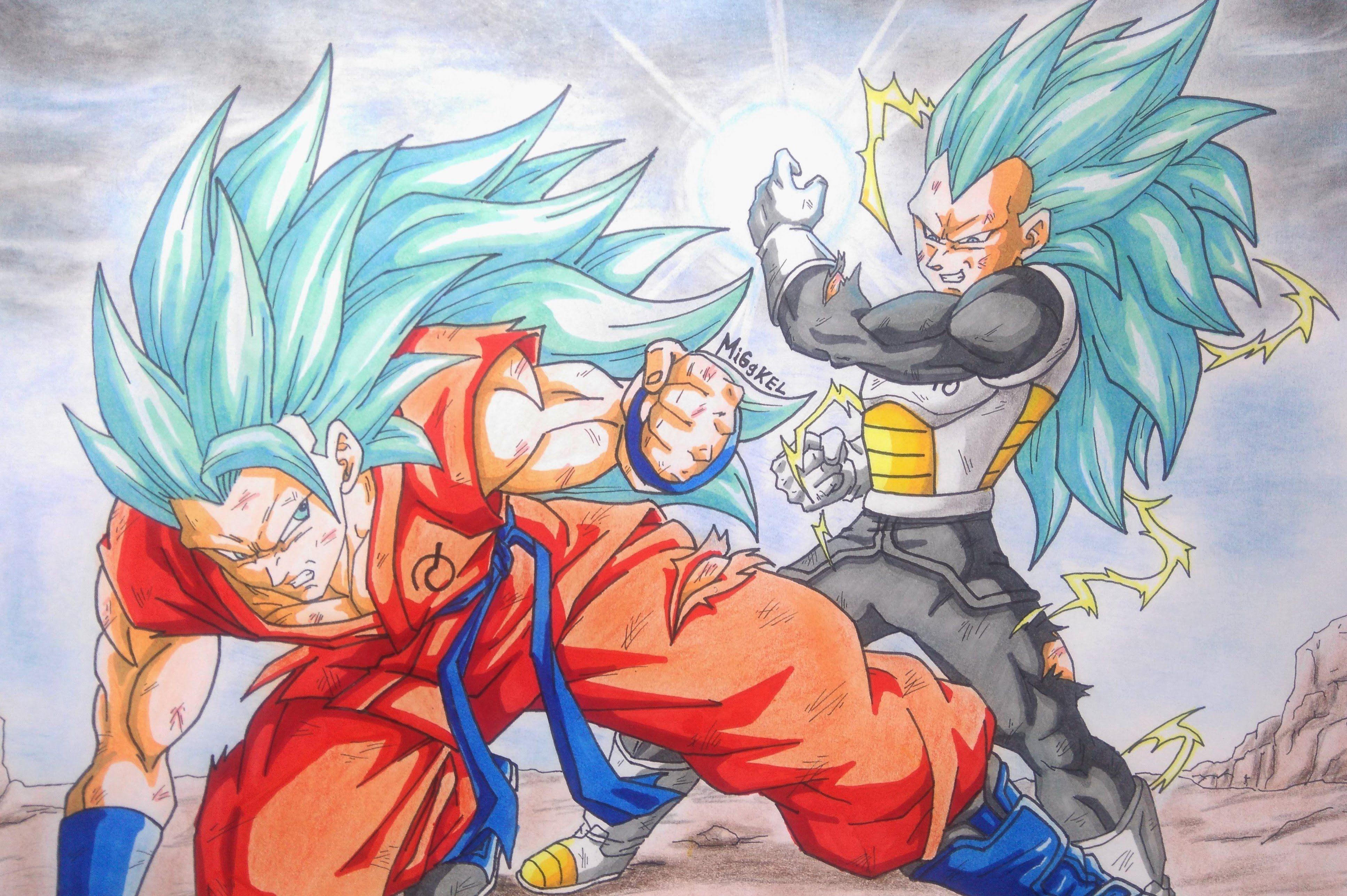 Vegeta Ssj Para Dibujar: Como Dibujar A Goku VS Vegeta SSj God SSj Fase 3. How To