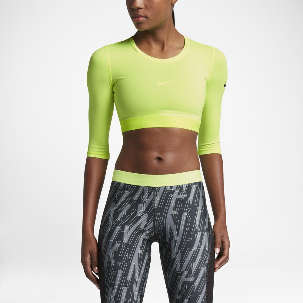 9048fe7a2755 Nike Pro HyperCool Women s Training Top Size Medium (Yellow) - Clearance  Sale