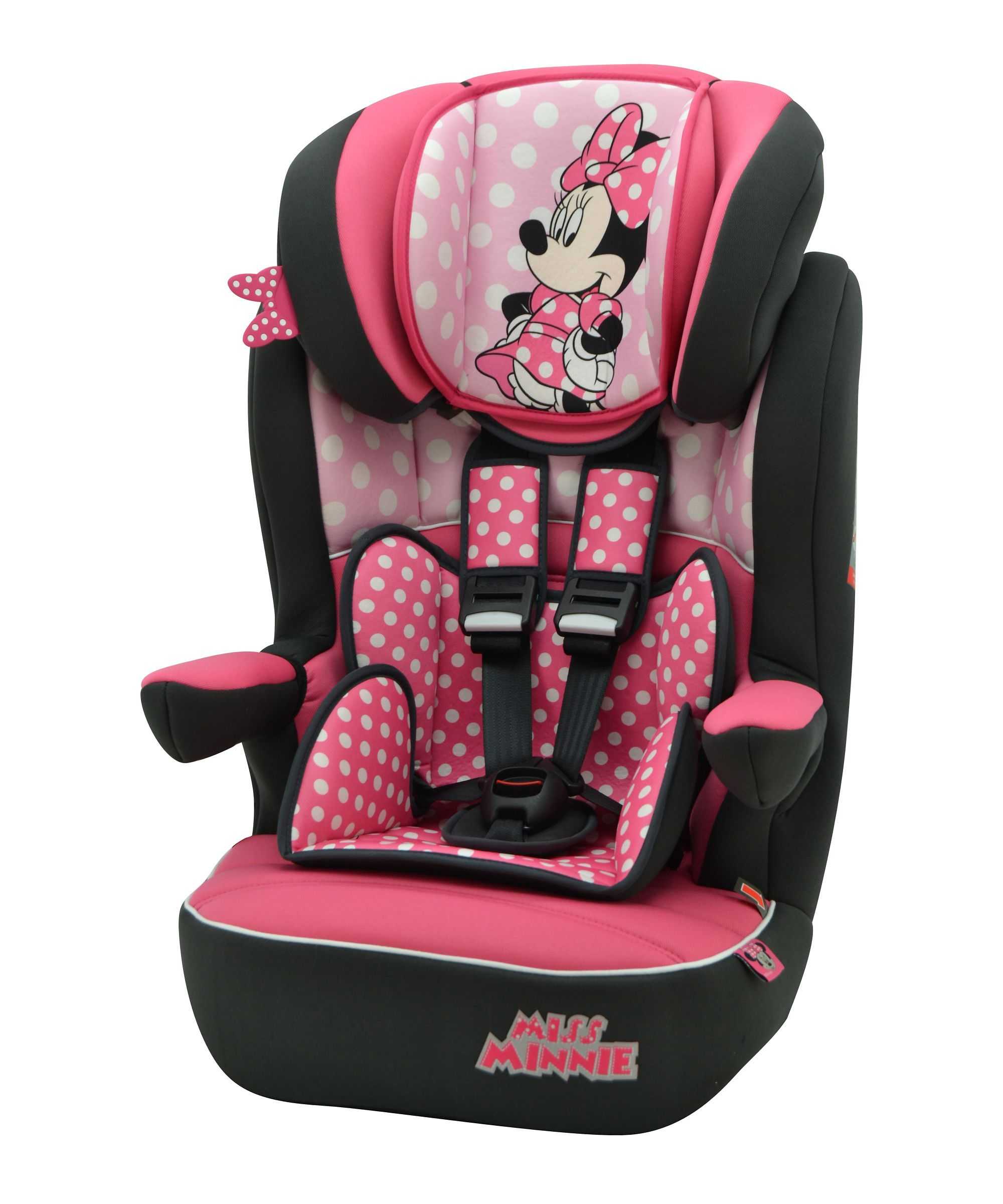 Disney Minnie Mouse Imax Sp High Back Booster Car Seat With