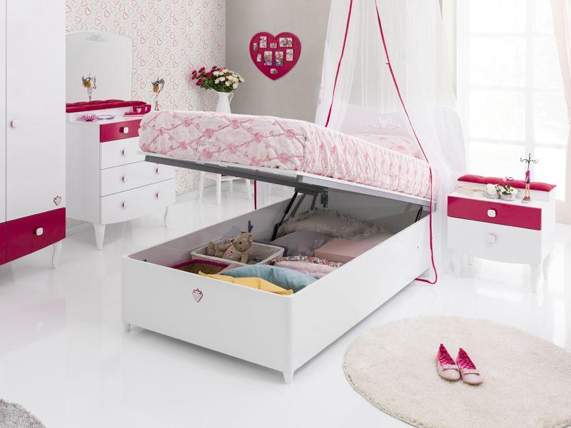 Bett mit bettkasten kinder  Cilek Yakut Bett mit Bettkasten - Kostenloser Versand innerhalb ...