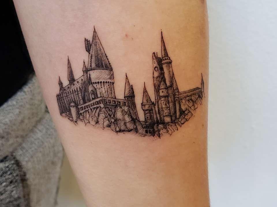 My First Tattoo Hogwarts Hogwarts Tattoo Inspirational Tattoos Harry Potter Tattoos
